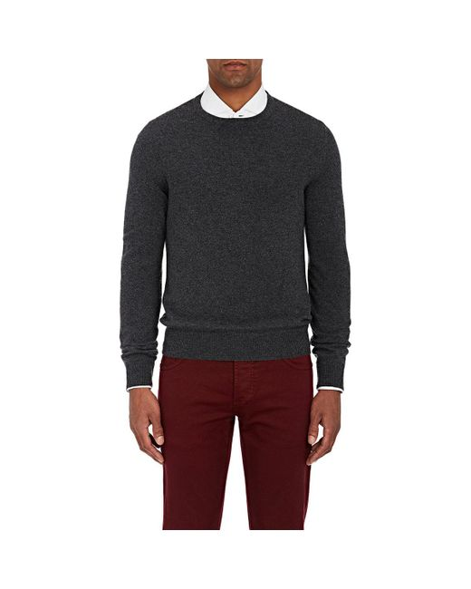 Isaia | Gray Suede Elbow Patch Cashmere Sweater for Men | Lyst
