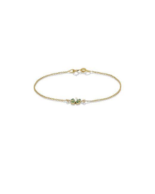 Jennifer Meyer | Multicolor Clover Charm Bracelet | Lyst