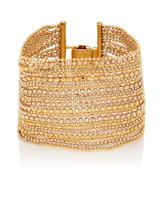 Goossens Paris - Metallic Cascade Bracelet - Lyst