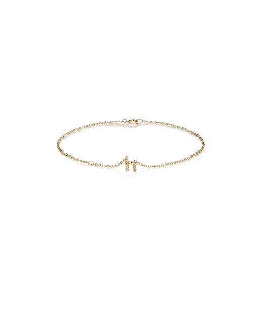 Jennifer Meyer | Metallic Initial Charm Bracelet | Lyst