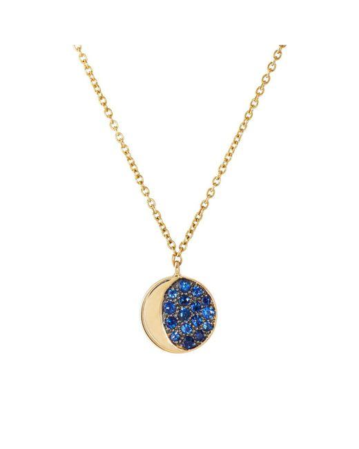 Pamela Love - Blue Reversible Moon Phase Pendant Necklace - Lyst