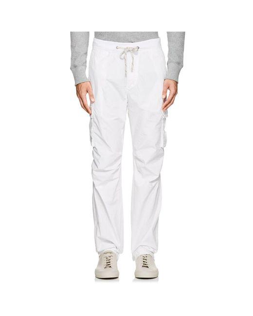James Perse - White Cotton Poplin Cargo Pants for Men - Lyst