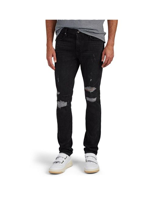 RTA - Black Distressed Skinny Jeans for Men - Lyst ... 8da2a3012fa