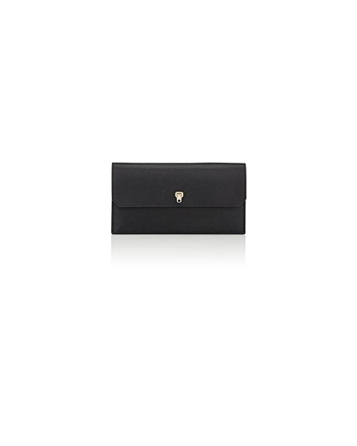 Valextra - Black City Clutch - Lyst