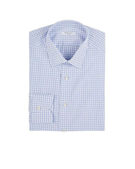 Boglioli - Blue Checked Cotton Dress Shirt for Men - Lyst