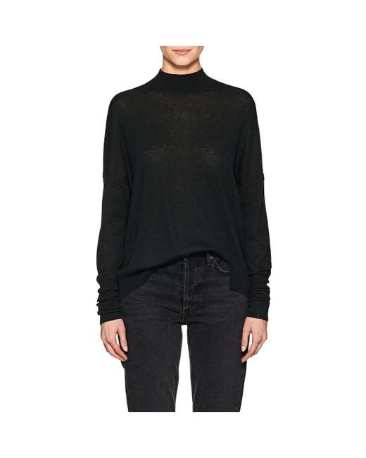 J Brand - Green Mock-turtleneck Wool-blend Sweater - Lyst