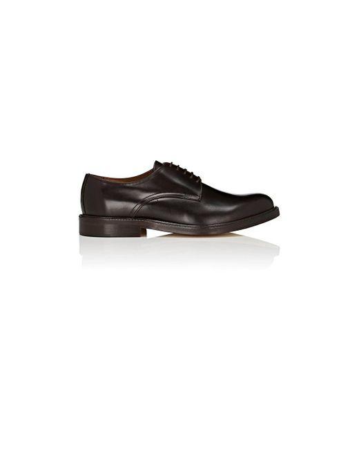 Barneys New York - Brown Leather Bluchers for Men - Lyst