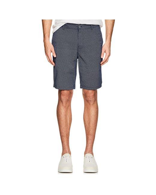 Barneys New York - Blue Circle-print Cotton Shorts for Men - Lyst