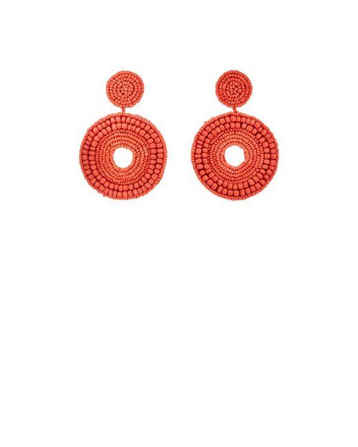 Kenneth Jay Lane | Red Beaded Drop Earrings | Lyst