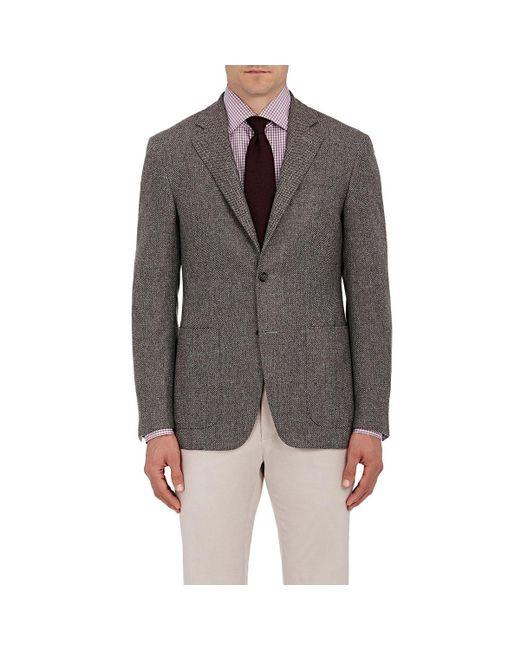 Canali   Gray Birdseye-weave Two for Men   Lyst