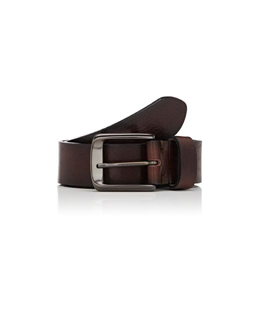 Barneys New York | Brown Distressed Leather Belt for Men | Lyst
