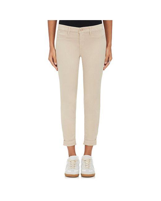 J Brand | Natural Anja Cuffed Crop Pants | Lyst
