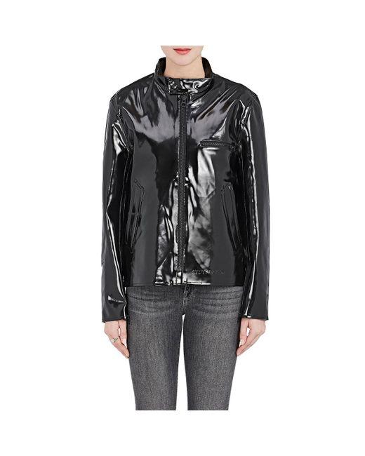 Stutterheim   Black Opal Moto Raincoat   Lyst