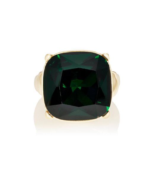 Kenneth Jay Lane | Green Crystal Cocktail Ring | Lyst