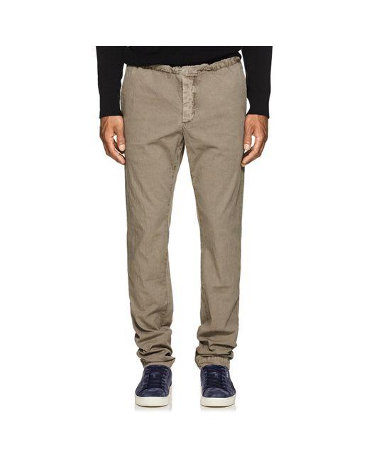 James Perse - Gray Cotton Seersucker Pants for Men - Lyst