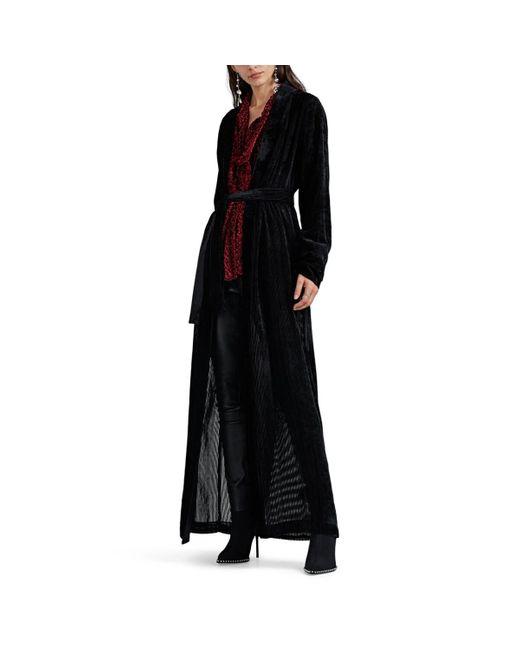 Unravel Project Black Velvet Devoré Long Robe