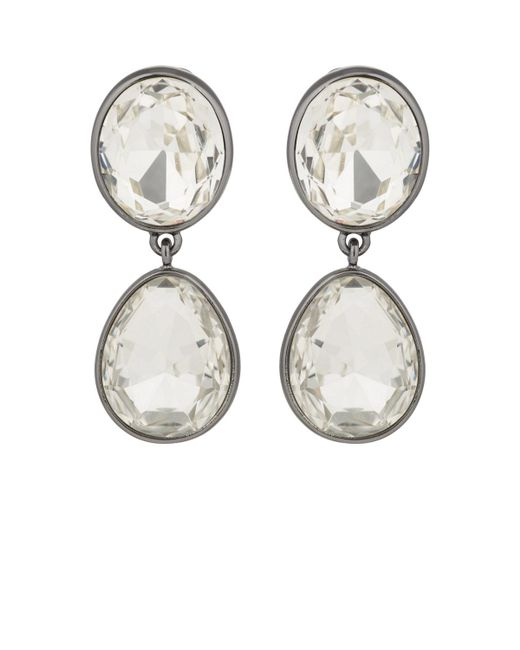 Kenneth Jay Lane - Metallic Headlight Drop Earrings - Lyst