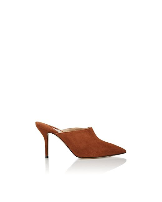 Paul Andrew - Brown Certosa Suede Pointed-toe Mules - Lyst