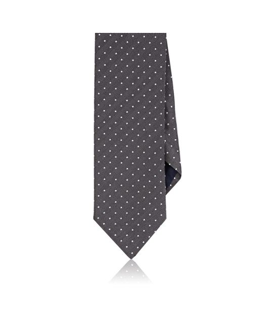 Barneys New York - Gray Dotted Herringbone Silk-cotton Necktie for Men - Lyst