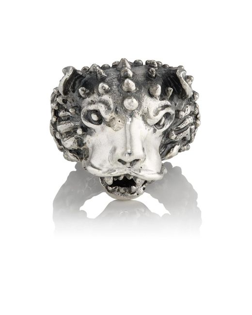 Emanuele Bicocchi - Metallic Themed Sterling Silver Ring for Men - Lyst