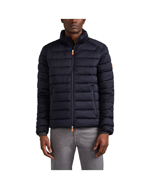 Save The Duck Blue Tech-taffeta Quilted Jacket for men