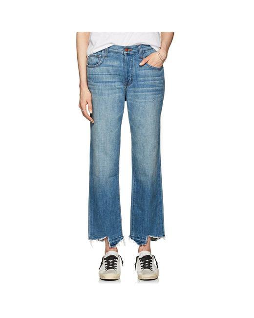 J Brand - Blue Ivy High-rise Crop Straight Jeans - Lyst