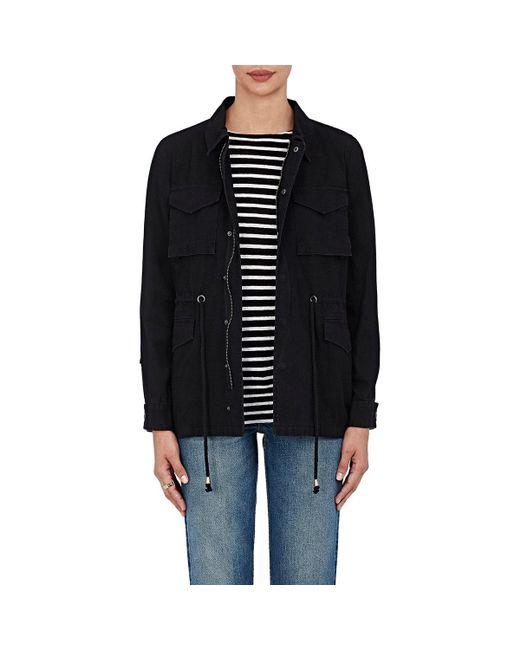 Barneys New York - Black Cotton Canvas Jacket - Lyst