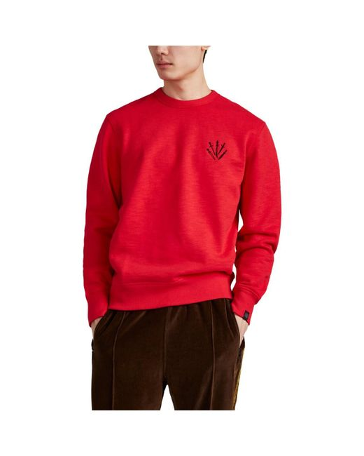 Rag & Bone Dagger-Embroidered Cotton Sweatshirt for men