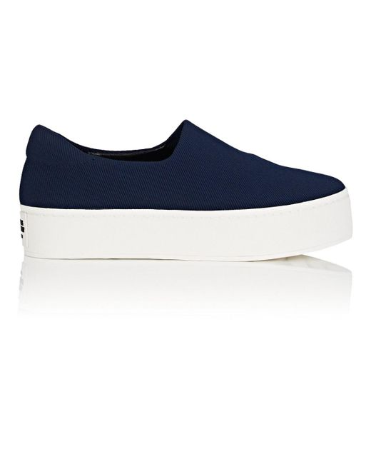 Opening Ceremony - Blue Cici Twill Platform Sneakers - Lyst