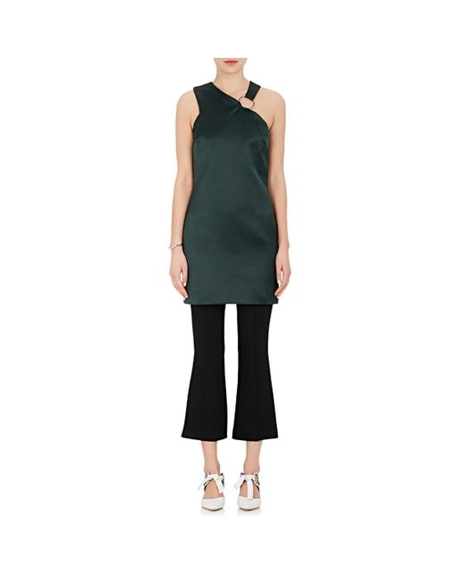 Nomia - Green Satin Halter Minidress - Lyst