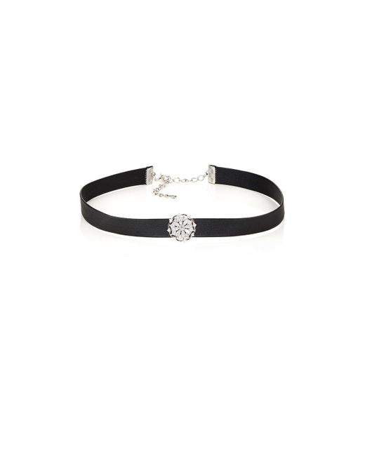 Kenneth Jay Lane - Black Crystal Charm Choker - Lyst