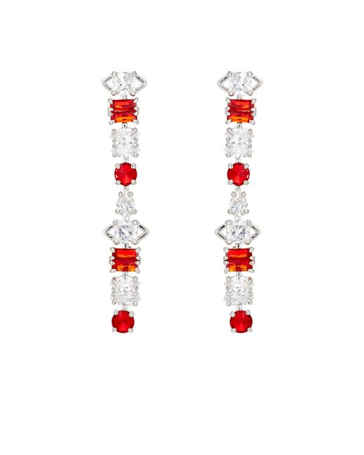 Fallon | Red Jagged Edge Drop Earrings | Lyst
