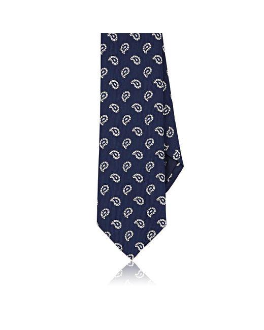 Mens Paisley Silk Faille Necktie Paolo Albizzati LzL0hVpRl