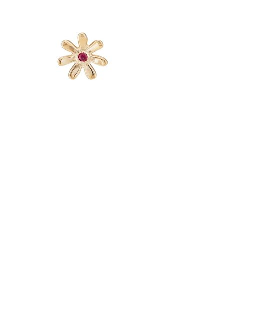 Barneys New York - Metallic Ruby Daisy Stud Earring - Lyst