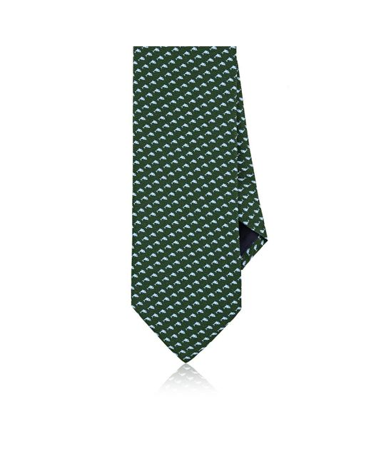 Barneys New York - Green Dolphin-print Silk Necktie for Men - Lyst
