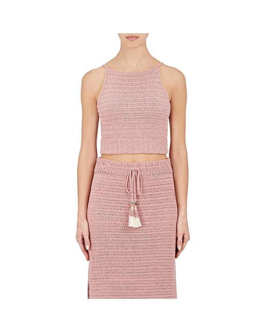 She Made Me | Pink Jannah Cami Crochet Crop Top | Lyst