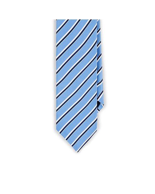 Barneys New York Blue Striped Silk Satin Necktie for men
