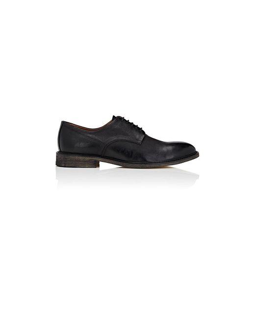 Barneys New York - Black Distressed Leather Bluchers for Men - Lyst