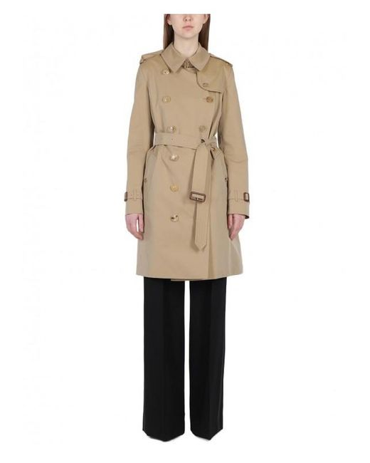 Burberry - Natural The Chelsea Cotton-gabardine Trench Coat - Lyst