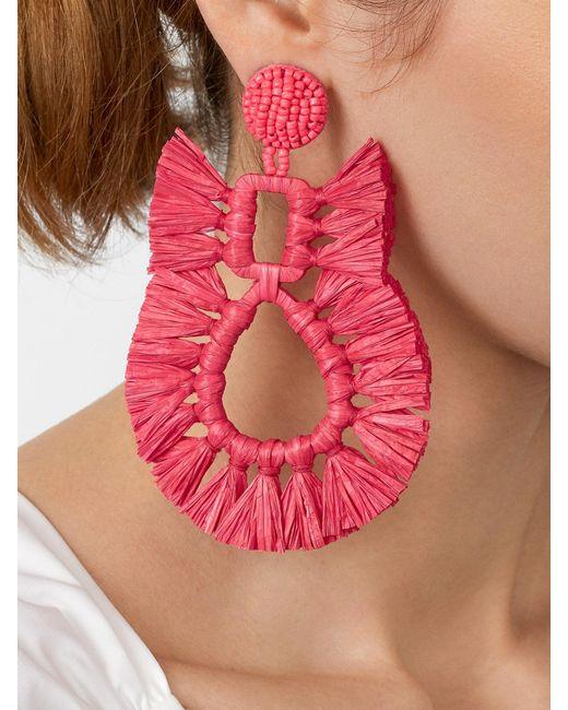 BaubleBar - Red Celia Raffia Drop Earrings - Lyst