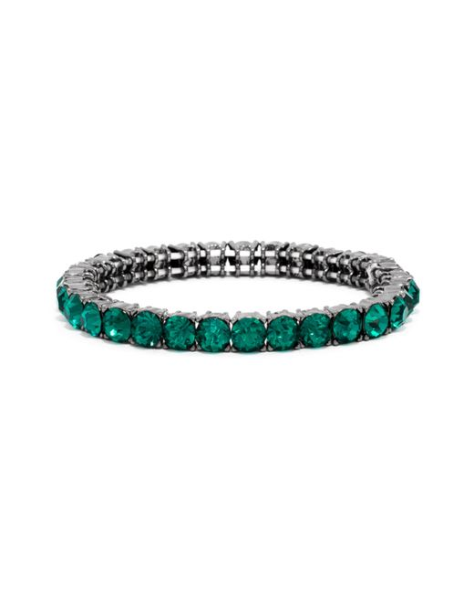 BaubleBar | Green Mini Round Cut Gem Bracelet | Lyst