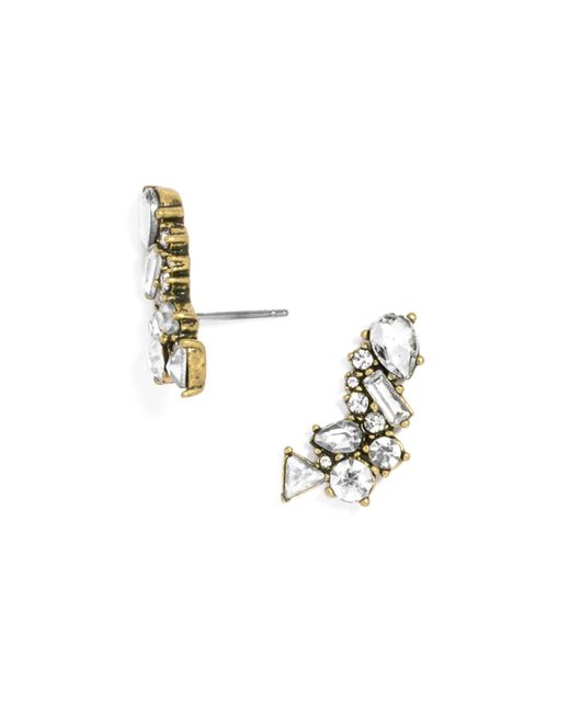 BaubleBar | Metallic Crystal Triangulum Ear Crawlers | Lyst