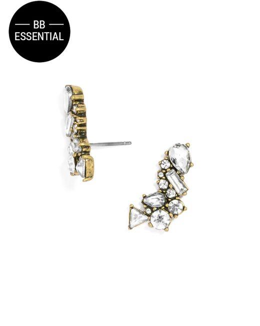 BaubleBar | Metallic Crystal Triangulum Ear Crawlers | Lyst