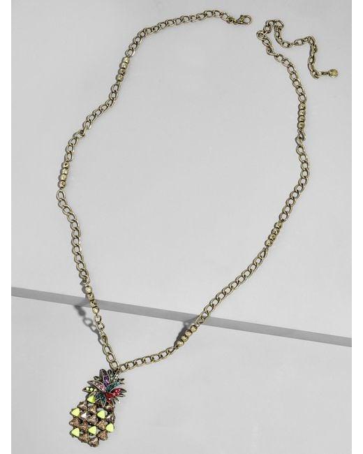 BaubleBar | Multicolor Pineapple Pop Pendant Necklace | Lyst