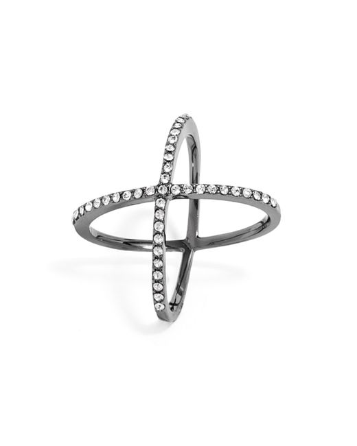 BaubleBar | Black Crystal Mason Ring | Lyst