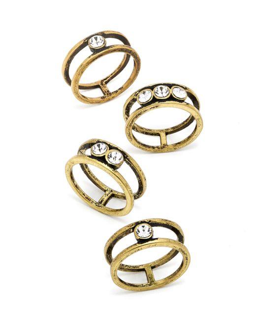 BaubleBar | Metallic Riven Ring Quad | Lyst