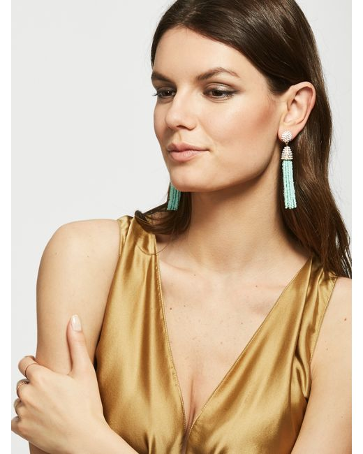 BaubleBar | Green Piñata Tassel Earrings | Lyst