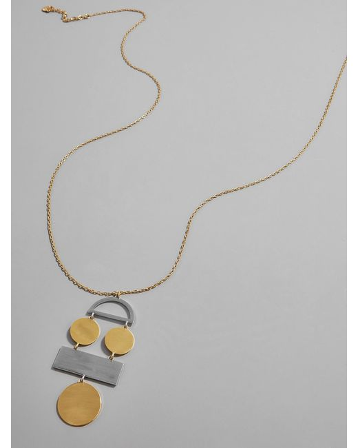 BaubleBar | Metallic Picasso Pendant Necklace | Lyst