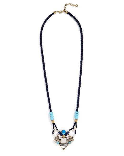 BaubleBar   Blue Natasia Necklace   Lyst