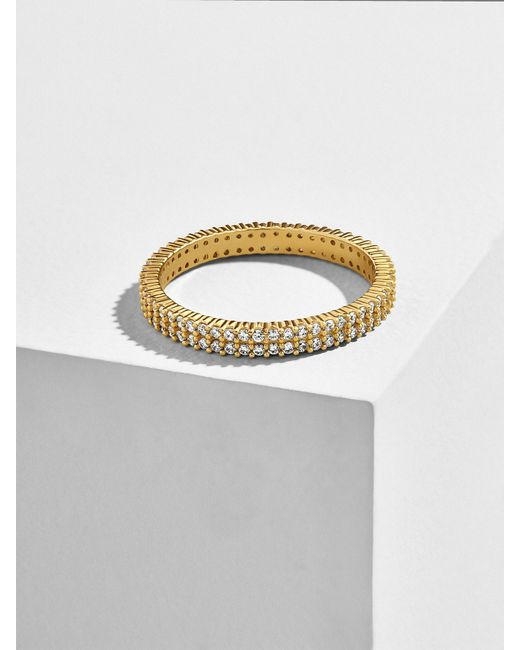 BaubleBar - Multicolor Alveo 18k Gold Plated Stacking Ring - Lyst